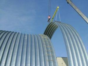 Строительство бескаркасных ангаров в Крыму