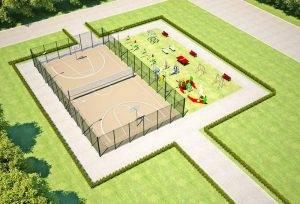 Как проходит строительство спортивных площадок?